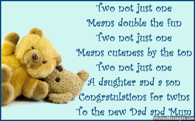 Congratulations For Twins To The New Dad And Mum