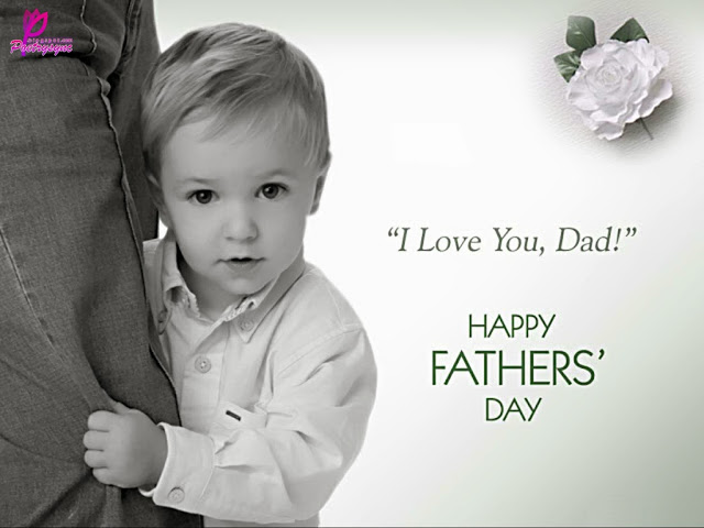 Cute Child Wishes Happy Father's Day Wonderful Wishes Image