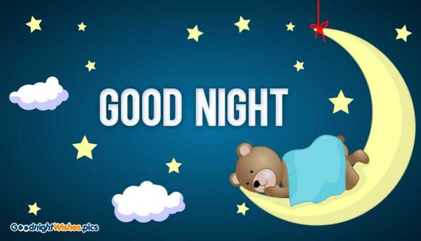 Cute Good Night Wishes Image