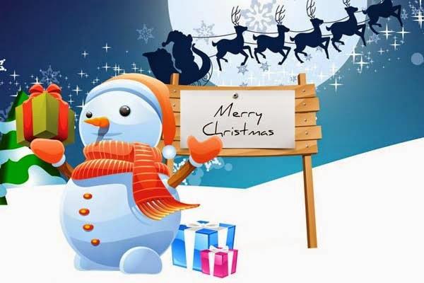 Cute Snowman Merry Christmas Image