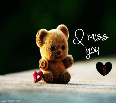 Cute Teddy I Miss You Wishes