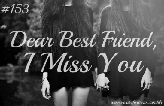 Dear Best Friend I Miss You Greetings Wallpaper