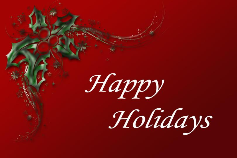 Dear Friend Happy Holiday Wishes Image