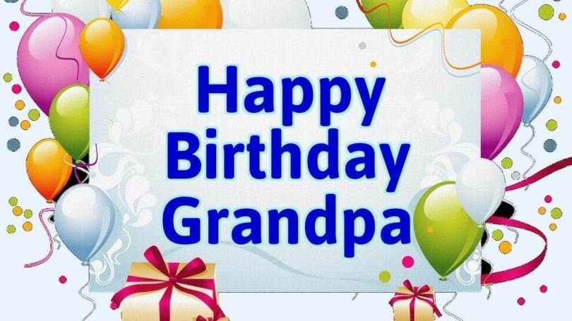 Dear Grandpa Birthday Wishes Image