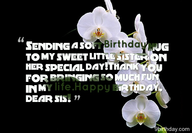 Dear Sister Happy Birthday Special Greetings Message Image