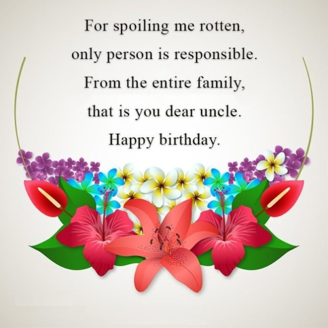 Dear Uncle Birthday Quotes & Wishes Image