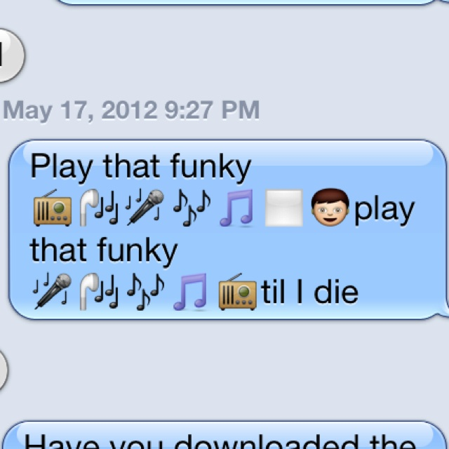 Emoji Quotes Play that funky play that funky til i die