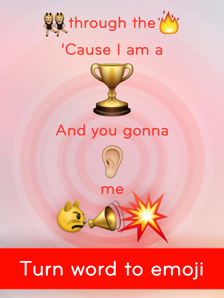 Emoji Quotes Through cause i am a and you gonna me turn word to emoji