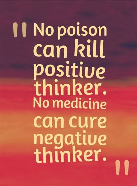 FFA Quotes No poison can kill positive thinker no medicine can cure negative thinker