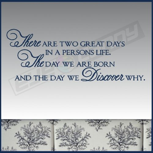 FFA Quotes There are two great days in a persons life the day we born and the day we discover why