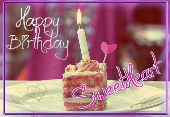 Fabulous Sweetheart Birthday Greetings Image