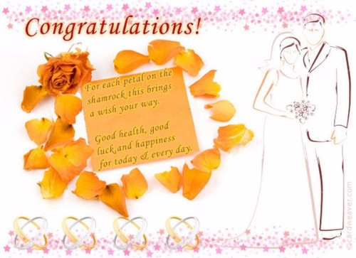 Fabulous Wedding Greeting Image