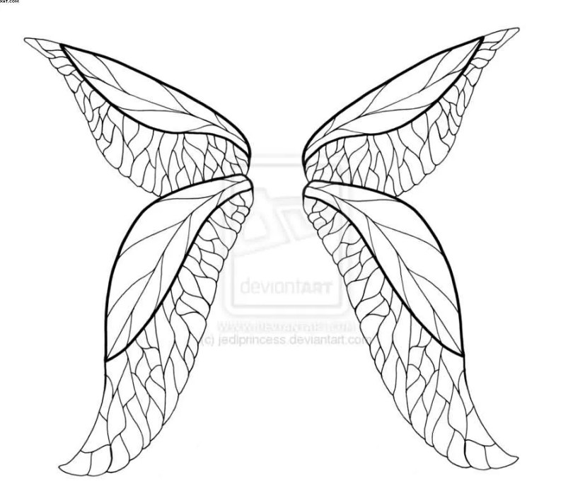 Fairy Tail Wing Tattoos Design For Girls