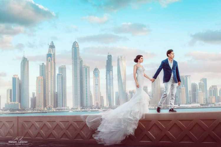 Fantastic Bride Groom Happy Wedding Wishes Image