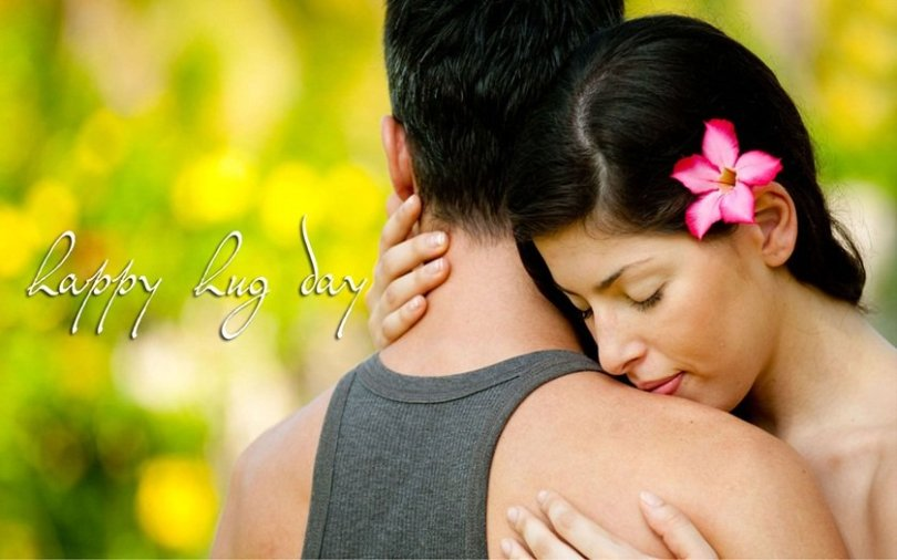 Fantastic Happy Hug Day Wish To My Lovely Girl Image