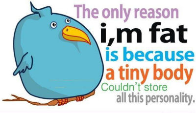 Fat Sayings The only reason i,m fat is because a tiny body