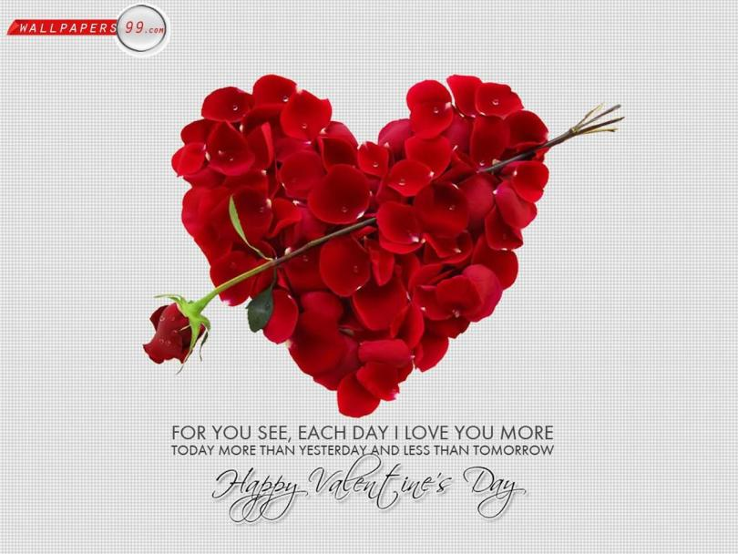 For You See Each Day I Love You More Happy Valentine Day