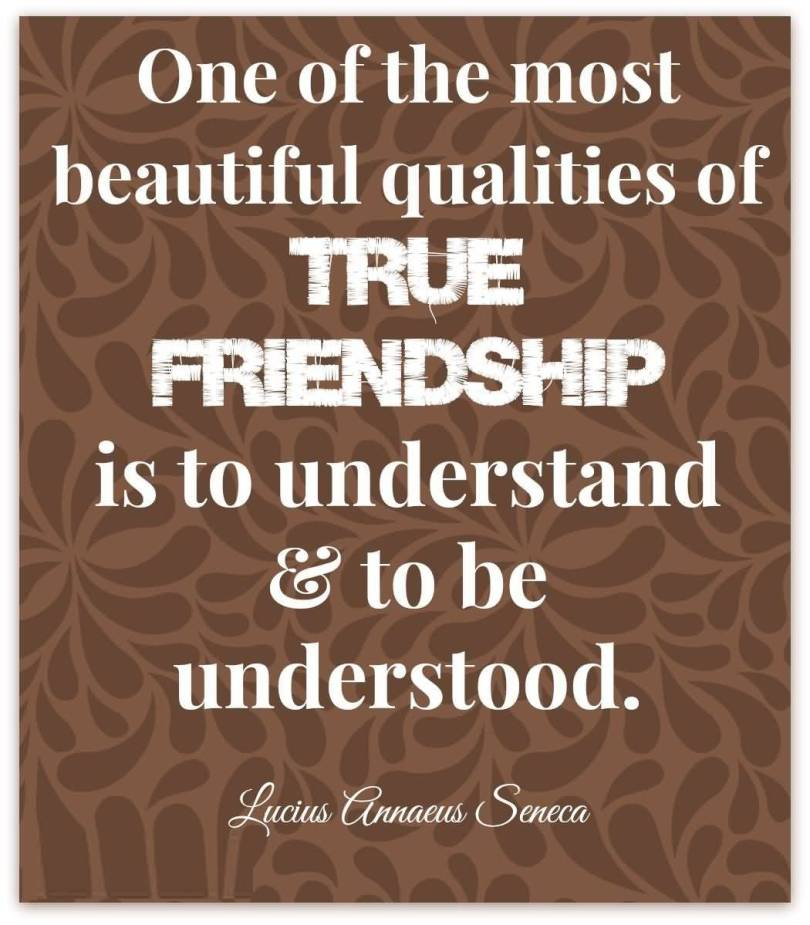 Friends Quotes One of the most beautiful qualities of true friendship is to understand to be understand Lucius Seneca