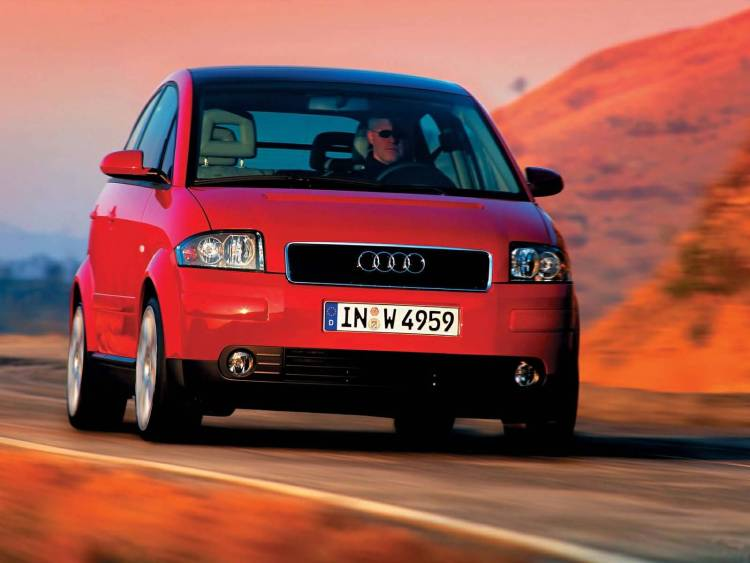 Front side of nice Red Audi A2 car