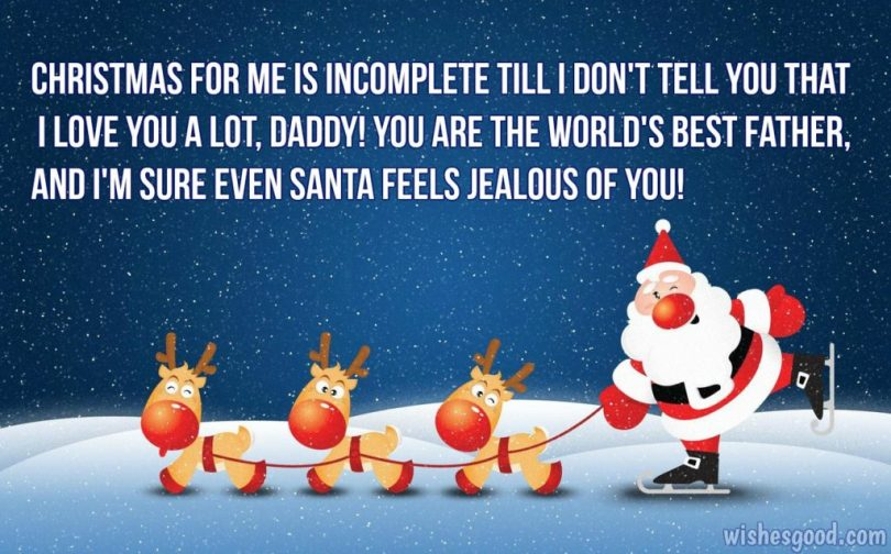 Funny Christmas Wishes For Father