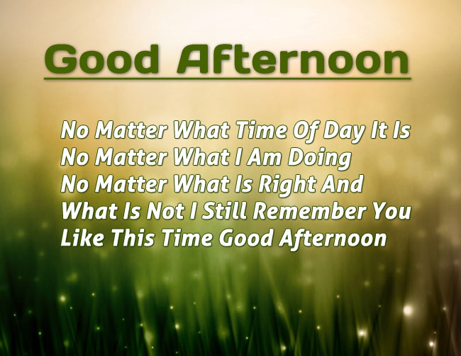 Good Afternoon Message Image Picture