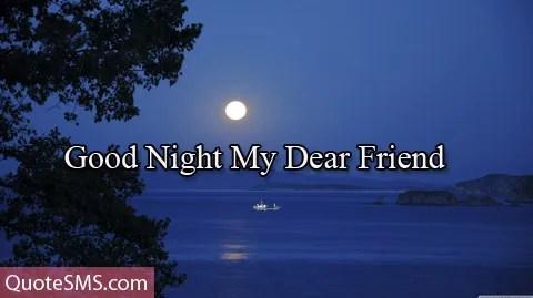Good Night Wishes Dear Friend