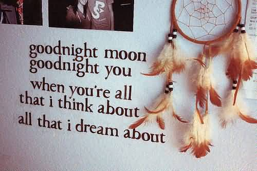 Goodnight Moon Quotes Goodnight moon goodnight you when you're all that i think about
