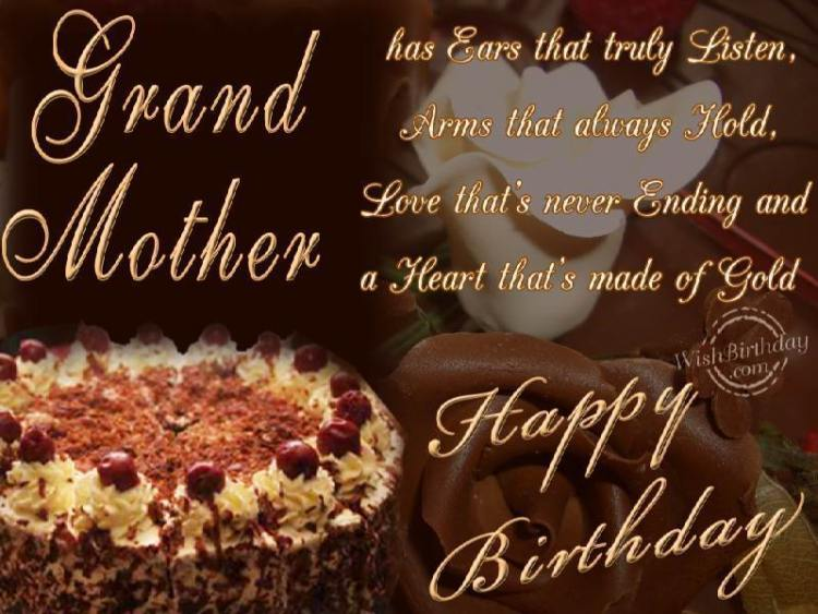 Grand Mother Birthday Message Love You