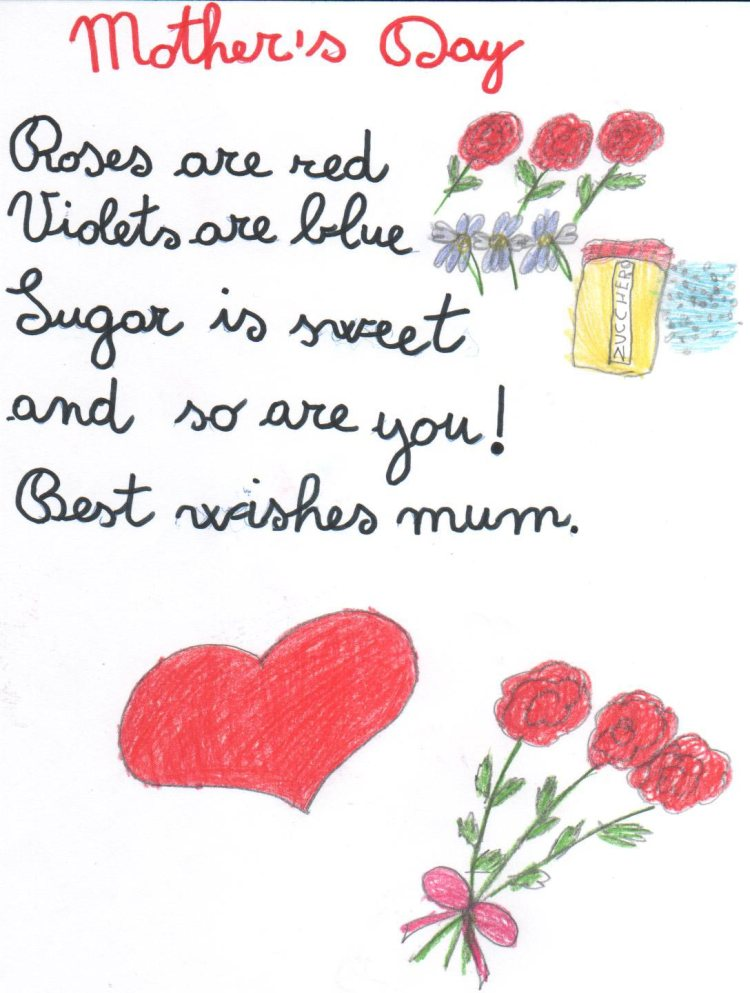 Handmade Happy Mothers Day Wishes Greetings Card Mother's Day Wishes