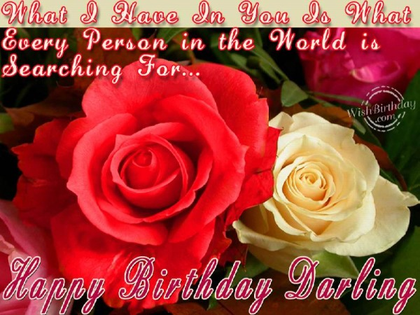 Happy Birthday Darling Great Wishes & Quotes With Image