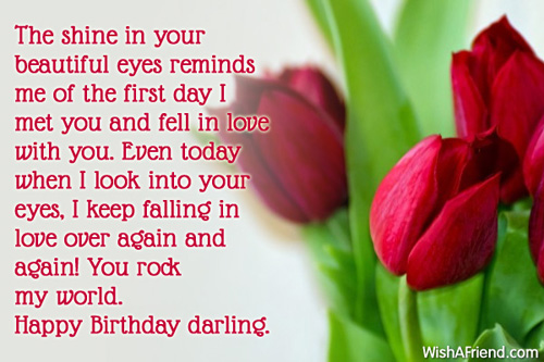 Happy Birthday Darling I Keep Falling In Love Over Again And Again