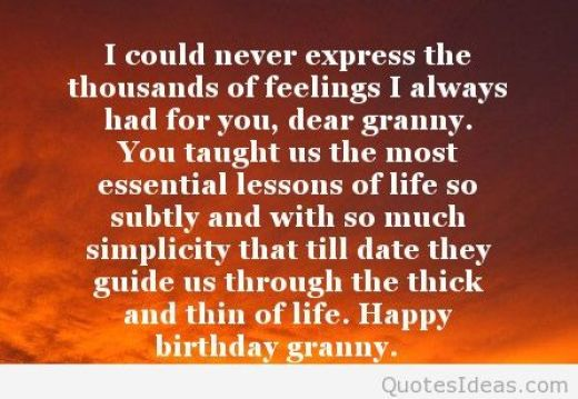 Happy Birthday Dear Granny Quotes Image