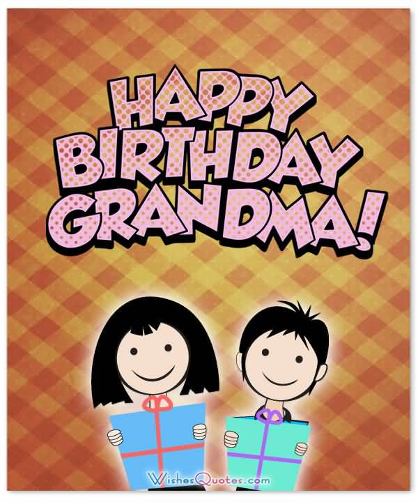 Happy Birthday Dearest Grandma Wishes Image