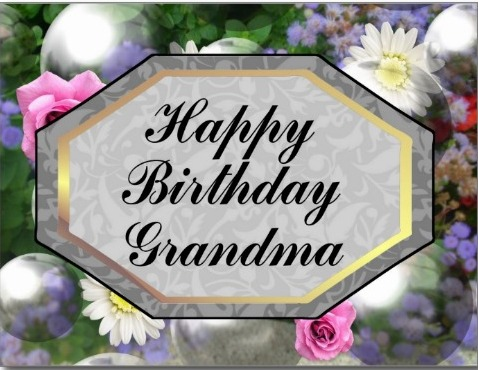 Happy Birthday Grandma Greeting Image