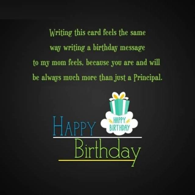 Happy Birthday Message To My Great Principal Image