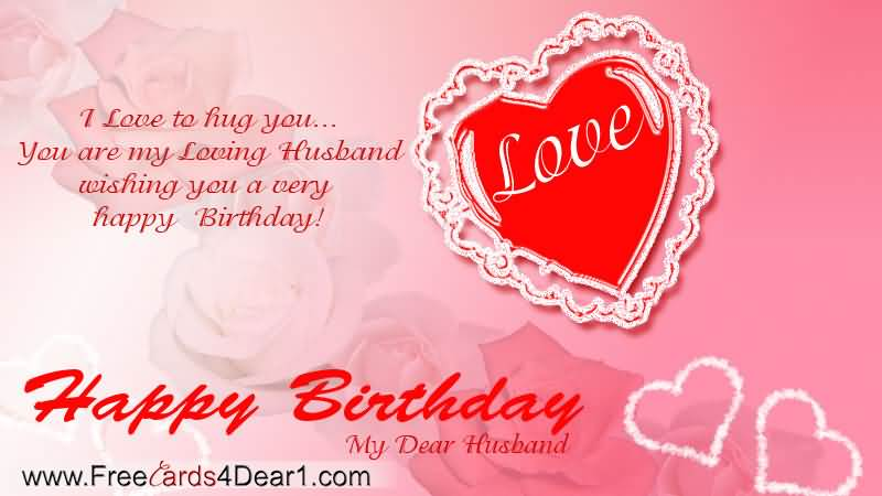 Happy Birthday My Dear Husband Wishes Image