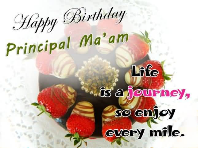 Happy Birthday Principal Ma'am Beautiful Wishes Picture