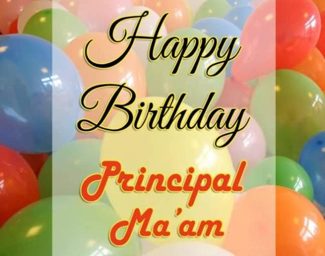 Happy Birthday Principal Ma'am Greeting Image