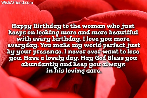 Happy Birthday To My Special Wife God Bless You