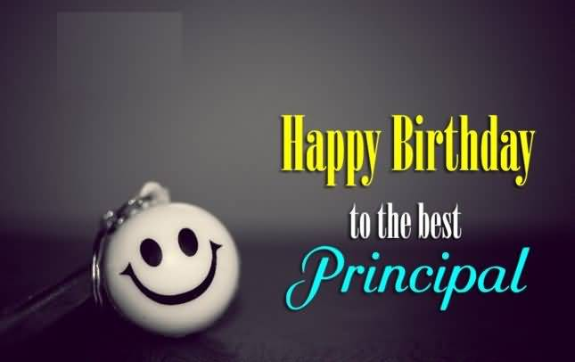 Happy Birthday To The Best Principal Greeting Wall post