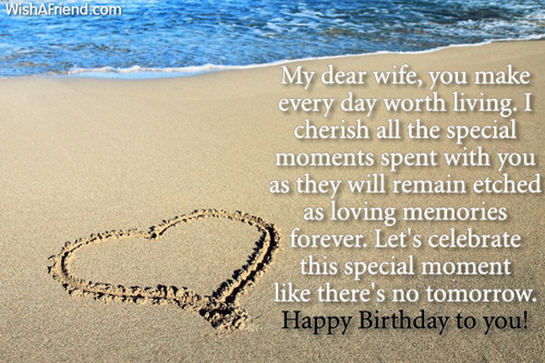 Happy Birthday To You My Lovely Wife Love Quotes Image