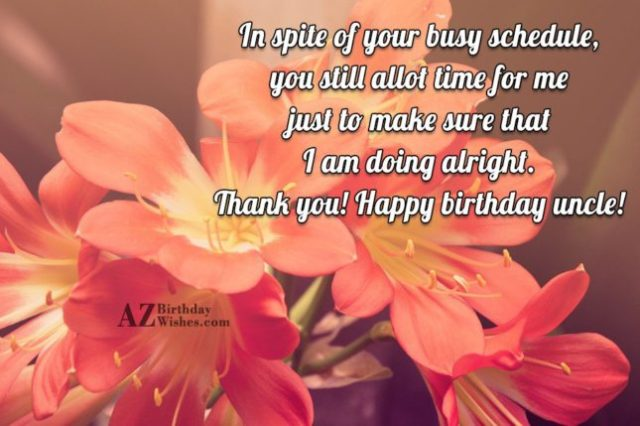 Happy Birthday Uncle Greetings Message Image