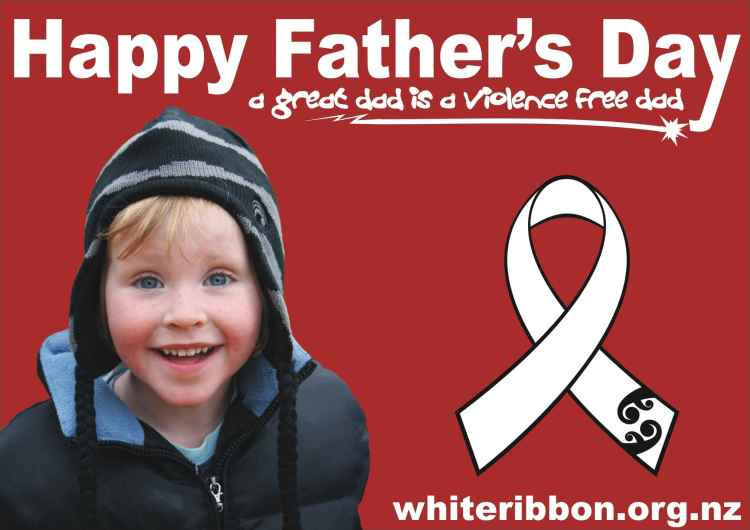 Happy Father's Day A Great Dad Is A Violence Free Dad Image