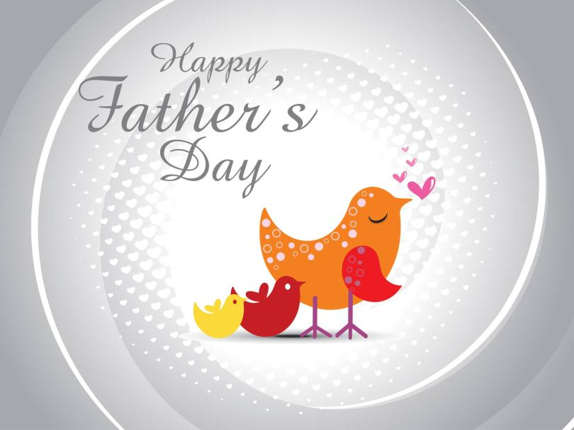 Happy Father's Day Birds Wallpaper