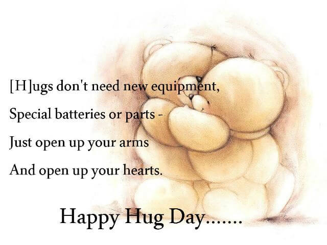 Happy Hug Day Message Image