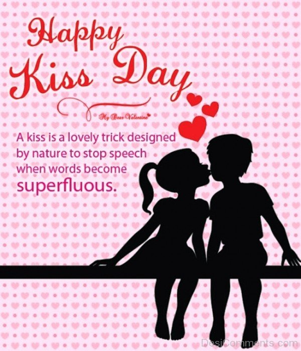 Happy Kiss Day A Kiss Is A Lovely Trick Designed Image