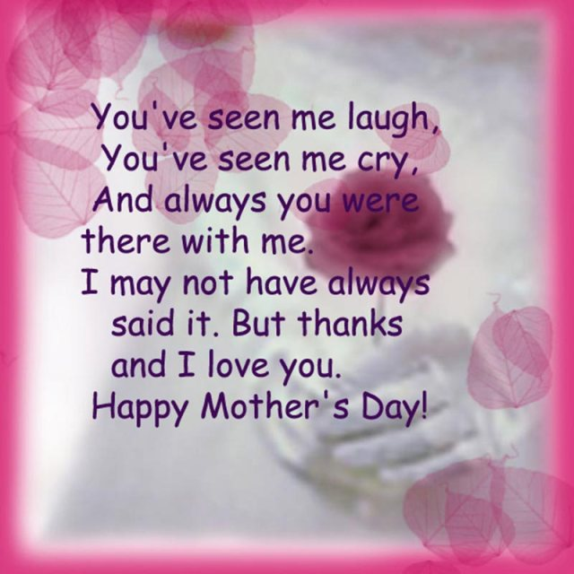 Happy Mothers Day I Love You Wishes Image