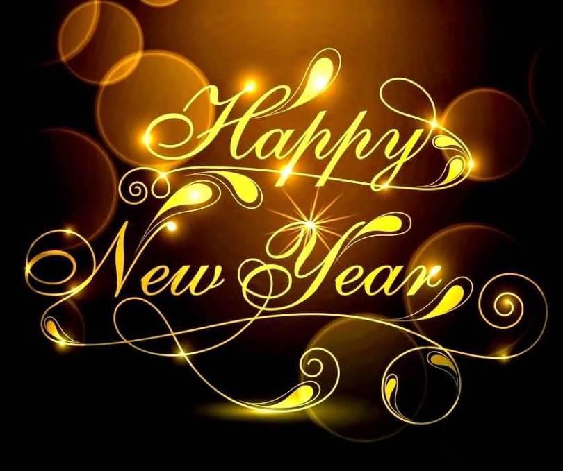 Happy New Year 2017 Golden Image