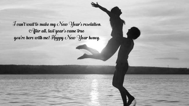 Happy New Year Beautiful Honey Wishes Image