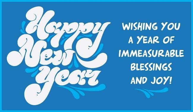 Happy New Year Blessing & Joy Wishes Image